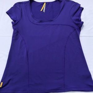 Lole Active Tee Purple Stretch Large T-Shirt  XL